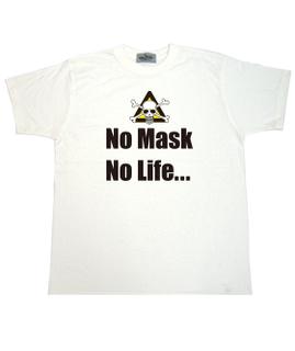 ノーマスク ノーライフ 白Tシャツ